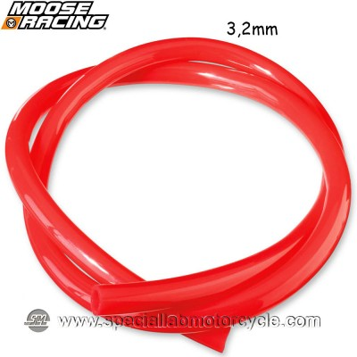 MOOSE RACING TUBO BENZINA RED 3,2mm X 152,5cm
