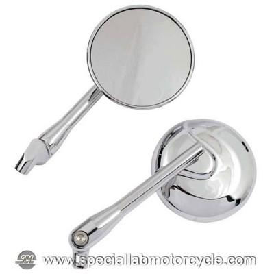 Specchietti Retrovisore Adjustable Stem Mirror Chrome Set