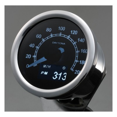 Contachilometri Elettronico Daytona Velona 60mm Cromo OLED 200Km/h