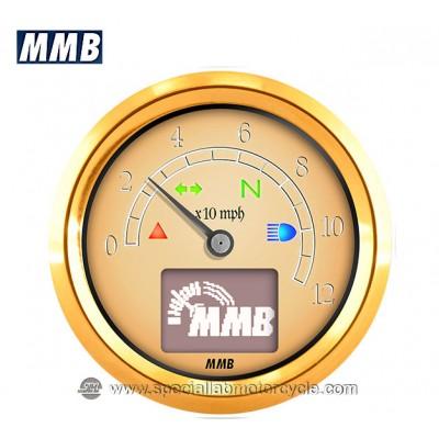Contachilometri Elettronico Vintage MMB 48 Retrò Con Spie