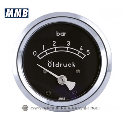 MMB BASIC MANOMETRO PRESSIONE OLIO 48mm 5/10 BAR