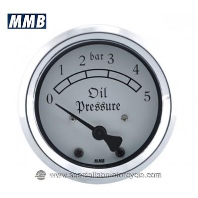 MMB RETRO MANOMETRO PRESSIONE OLIO 48mm 5/10 BAR