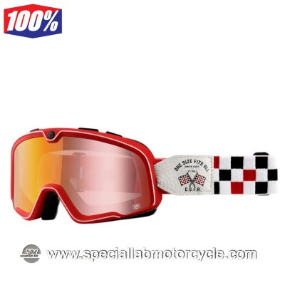 Maschera 100% Barstow O.S.F.A Racing Red Lens