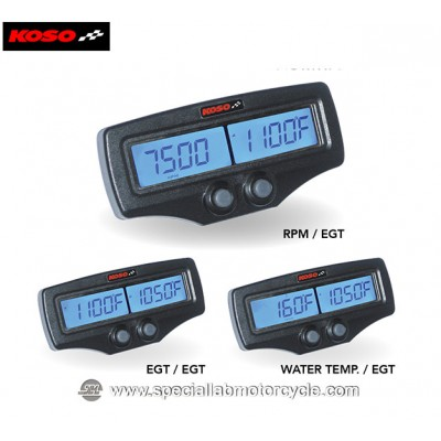 Koso Misuratore di Temperatura Dual EGT-02R