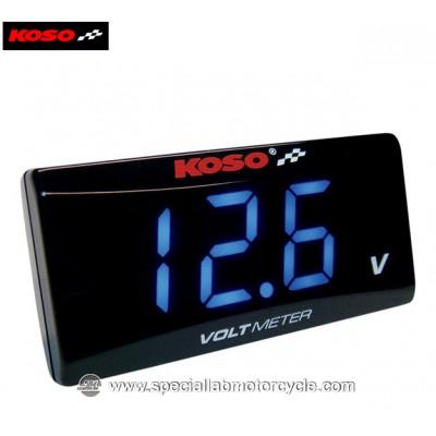 Koso Super Slim Clock & Volt Meter