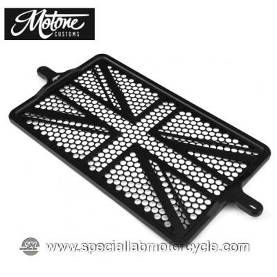Motone Custom Griglia Protettiva Radiatore Union Jack Triumph Black