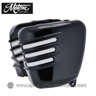 Motone Custom Fianchetti per Triumph Finitura Nera Lucida