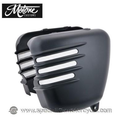 Motone Custom Fianchetti per Triumph Finitura Nera Opaca