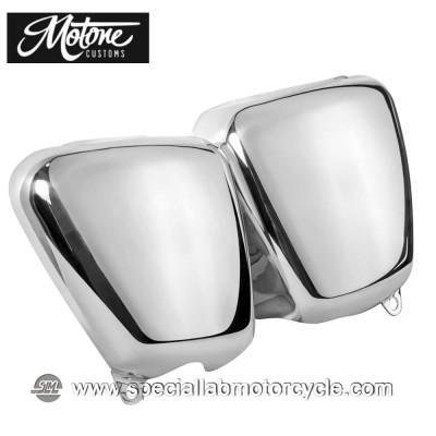 Motone Custom Fianchetti per Triumph Alluminio Lucidato