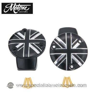 Motone Custom Union Jack Cover Carburatori Triumph Contrast Cut