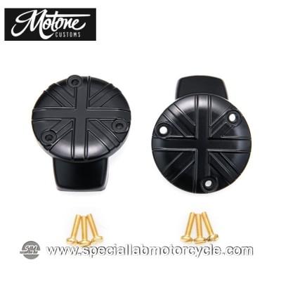 Motone Custom Union Jack Cover Carburatore Triumph Black