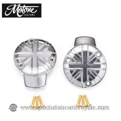 Motone Custom Union Jack Cover Carburatore Triumph Chrome