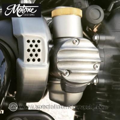 Motone Custom Union Jack Cover Carburatori Triumph Raw Finish