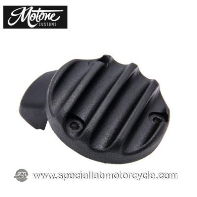 Motone Custom Cover Carburatore Triumph Ribbed Finned Black