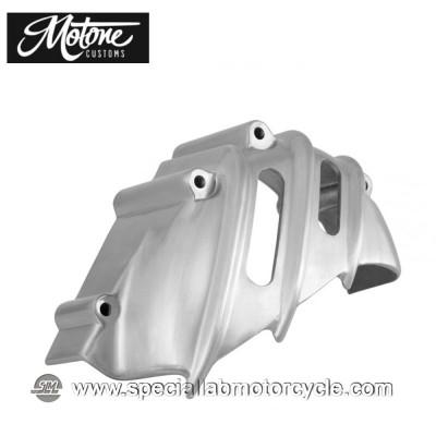 Motone Custom Cover Pignone Triumph Alluminio Spazzolato