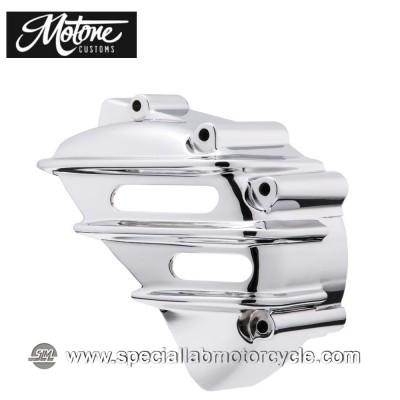 Motone Custom Cover Pignone Triumph Alluminio Cromato