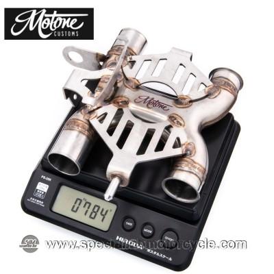 Motone Custom Collettore di scarico X Pipe Triumph