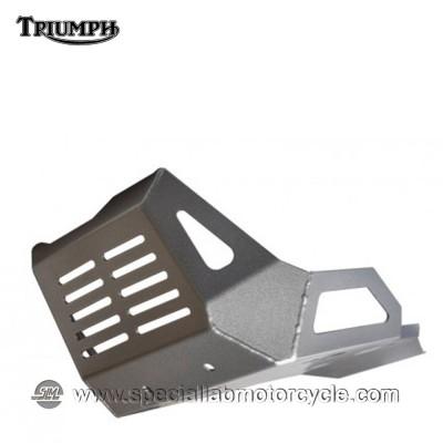 Piastra Paramotore Ibex per Triumph Tiger 800 Silver