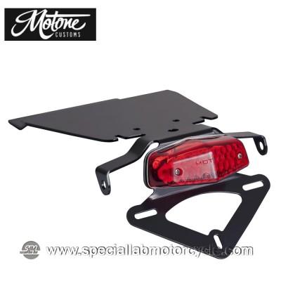 Motone Custom Kit Portatarga e Fanalino Posteriore Led Lucas Tindy Plate per Triumph