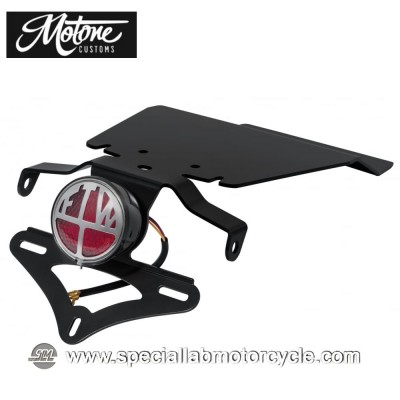 Motone Custom Kit Portatarga e Fanalino Posteriore FTW Tile Tindy per Triumph
