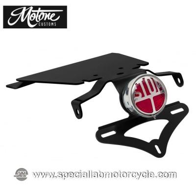 Motone Custom Kit Portatarga e Fanalino Posteriore Miller Tail Tindy per Triumph