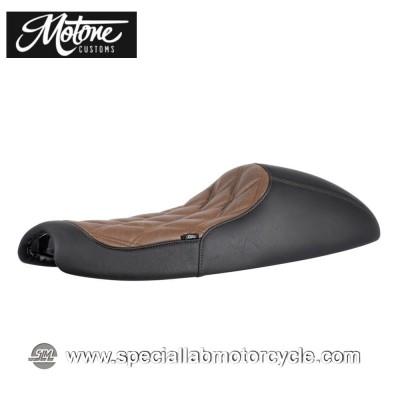 Motone Custom Sella Bonneville Cafè Racer Diamond Black/Brown Triumph