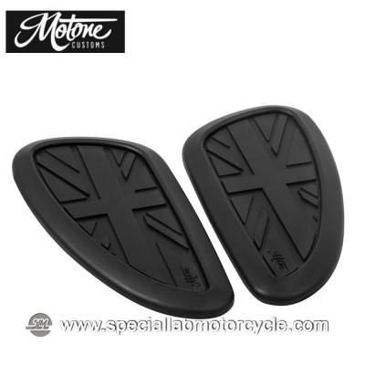 Ginocchiere Serbatoio Motone Custom Union Jack Black per Triumph