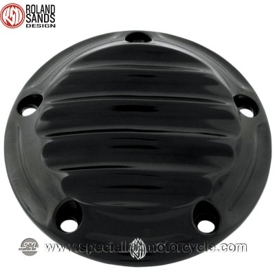 Cover Nostalgia Points Black Anodized Roland Sands Design Harley Model 1999 - 2016 Twin Cam