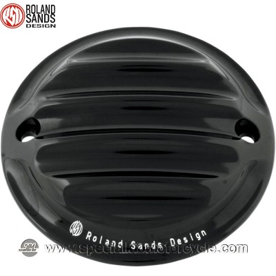 Cover Nostalgia Points Black Anodized Roland Sands Design Harley Model 1984 -1999 Big Twin (eccetto Twin Cam 2004-2016 XL)