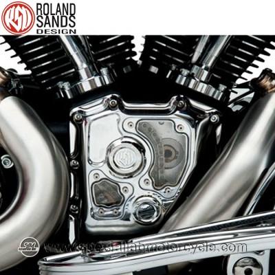 Roland Sands Design Clarity Cam Covers Chrome Model Harley Davidson Electra Glides FLHT/FLHR/FLHX/FLTR dal 2001 al 2014