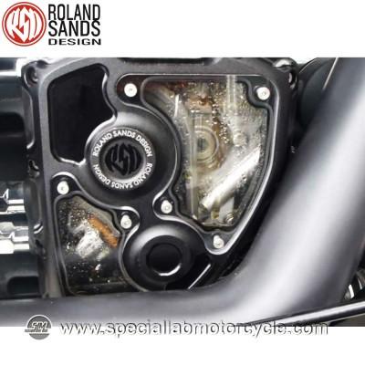 Roland Sands Design Clarity Cam Covers Black Ops Model Harley Davidson Electra Glides FLHT/FLHR/FLHX/FLTR dal 2001 al 2014