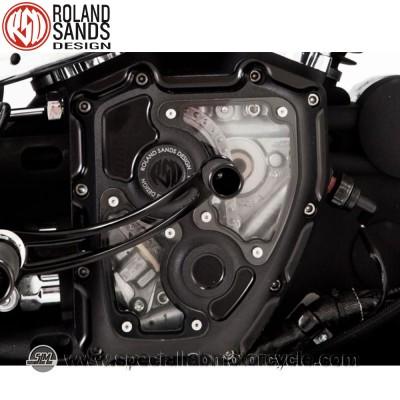 Roland Sands Design Clarity Cam Covers Black Ops Model Harley Davidson Twin Cam dal 2001 al 2014 (eccetto FL Touring dal 2001 al