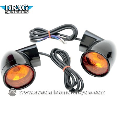 """DRAG SPECIALTIES FRECCE ANTERIORI ALOGENE DOUBLE FUNCTION BULLET-STYLE 60mm 8"""""""