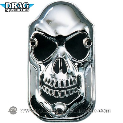 DRAG SPECIALTIES COVER FARO POSTERIORE SKULL GRILLE TOMBSOTNE CHROME
