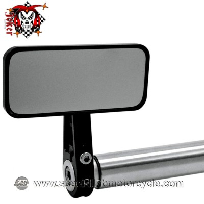 JOKER MACHINE SPECCHIETTO RETROVISORE BAR END RECTANGLE MIRROR BLACK