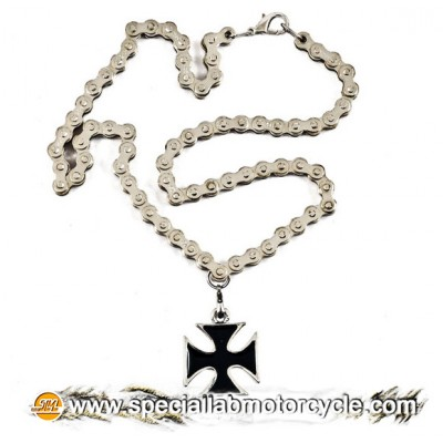 Collana Croce Maltese Black