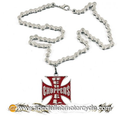 Collana Croce Maltese Rebel Choppers