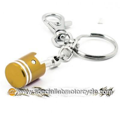 Key Chains Piston Gold