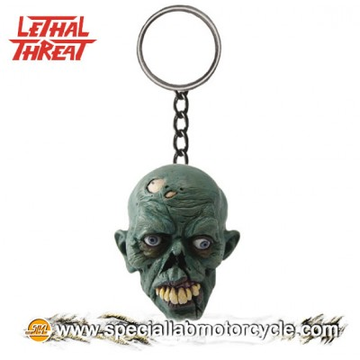 Lethal Threat 3D Key Chains Zombie Skull