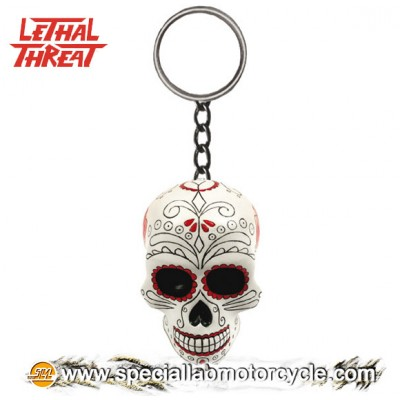 Lethal Threat 3D Key Chains Day Of The Dead Skull