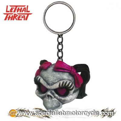 Lethal Threat 3D Key Chains Girl Skull