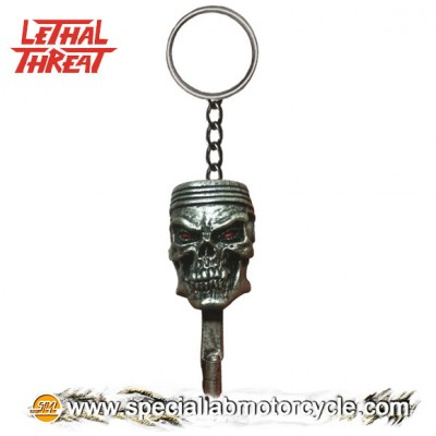 Lethal Threat 3D Key Chains Pistone Skull