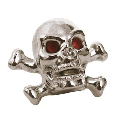 Coppia Tappi Valvola Skull & Bones