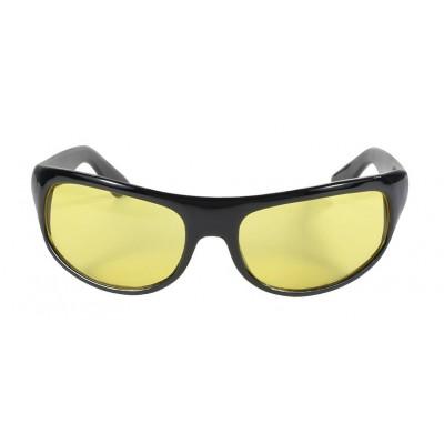 Occhiali Kickstart da sole Wrap Black Frame Yellow lens