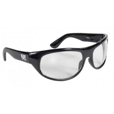 Occhiali Kickstart da sole Wrap Black Frame Clear lens