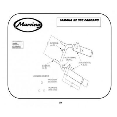 Finali di Scarico Marving Yamaha XZ 550 Cardano
