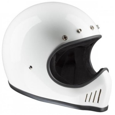 Casco Bandit Integrale History Motocross White