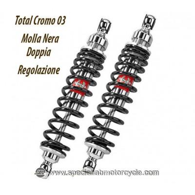 Ammortizzatori Bitubo Posteriori per Moto Guzzi V75 1992-1996 / 850 California T3 1979-1985 Doppia Regolazione
