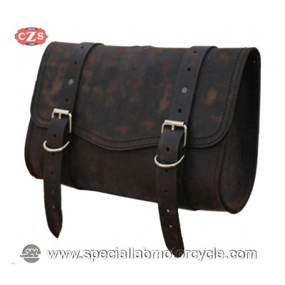 BORSA MOTO LATERALE IN PELLE OLIMPO BASIC UNIVERSALE OLD RAT