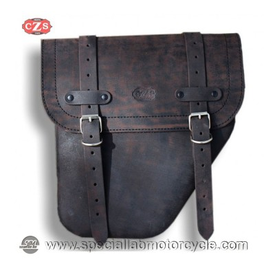 BORSA MOTO LATERALE IN PELLE CENTURION UNIVERSALE DESTRA OLD RAT